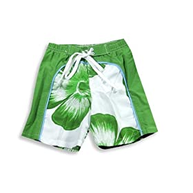 Dogwood - Infant Boys Bathing Suit, Green, White