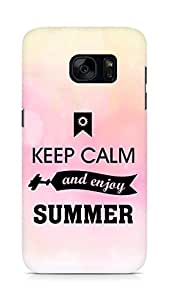 Amez Keey Calm and Enjoy Summer Back Cover For Samsung Galaxy S7