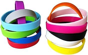 Green House-Wholesale 12pcs5pcsset Mixed Colors Blank Silicone WristbandsRubber BraceletsShipped fro
