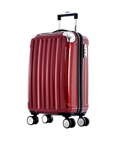 "Olympia Stanton 21"" Carry-On Hardcase Spinner, Burgundy"
