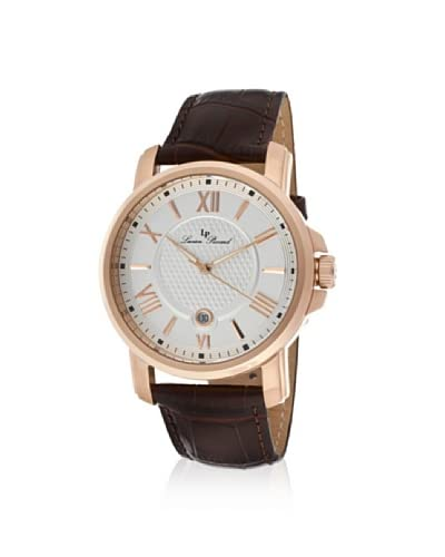 Lucien Piccard Men's LP-12358-RG-02S Cilindro Brown/Gold Leather Watch As You See