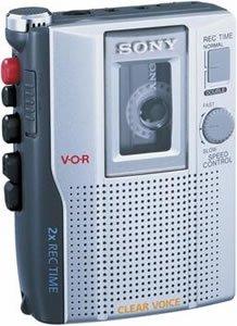 SONY TCM200DV STANDARD CASSETTE VOICE RECORDER