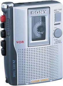 New Sony Standard Cassette Voice Recorder Led Battery Level Indicator Built-In Microphone