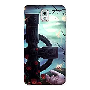 Crossed Circle Back Case Cover for Galaxy Note 3