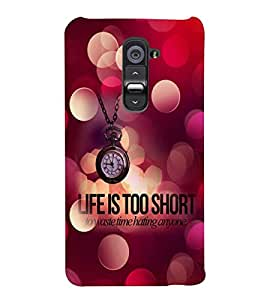 printtech Life Is Short Quote Back Case Cover for LG G2::LG G2 D800 D980