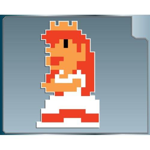 .com: PRINCESS PEACH 8 bit from Super Mario Bros. vinyl decal sticker