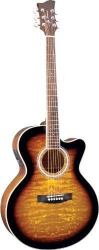 best buy jay turser jta 424qcet tsb acoustic electric guitar tobacco sunburst on sale guitars. Black Bedroom Furniture Sets. Home Design Ideas
