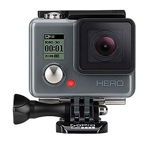 GoPro HERO - Videocámara deportiva (5 Mp, 1080p/30 fps, 720p/60 fps, sumergible hasta 40 m, 112 gramos), negro (versión europea)