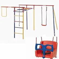 Big Sale Best Cheap Deals Kettler KIT-8398-600B Trimstation Swing Set with Baby Swing Seat