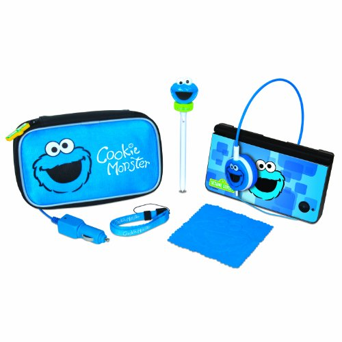 Sesame Street Cookie Monster Travel Kit - DS, DSi, DSi XL