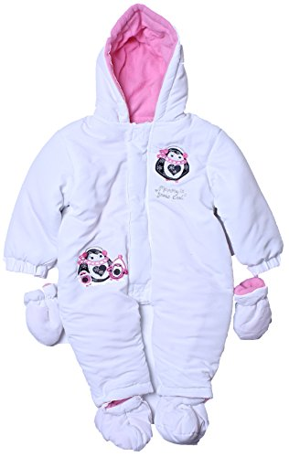 Cone Isle Baby - Baby Girls 0-9M Penguin Print Snowsuit Pram -White6/9 back-521614