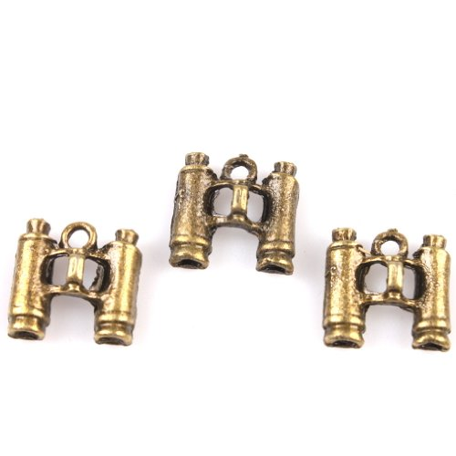 30Pcs Vintage Bronze Alloy Metal Telescope Style Handmade Charms Finding
