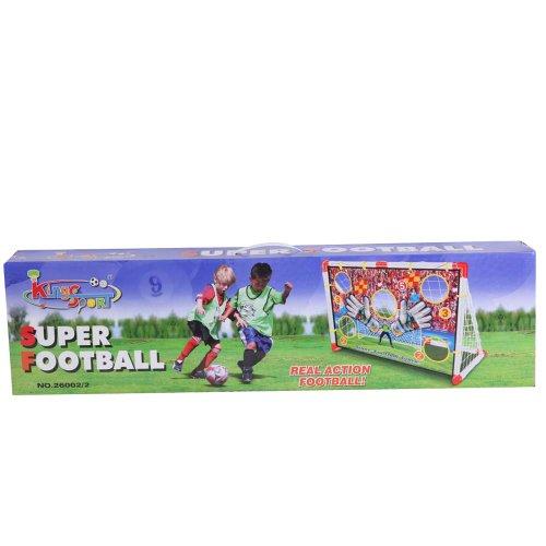 Football soccer kids target shot kick goal practice set training with ball