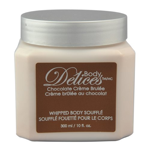 Upper Canada Soap & Candle Body Delices Whipped Body Massage Souffle, Chocolate Cream Brulee, 10-Ounce Bottles (Pack of 2)