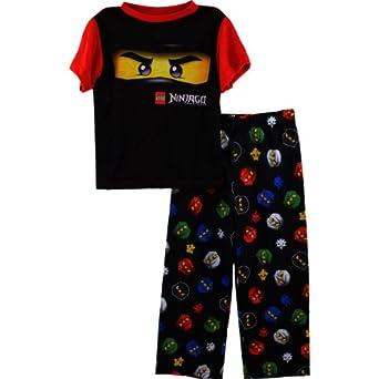 """LEGO Ninjago """"Ninja Mask"""" Black Pajamas Set 4-12 (10)"""