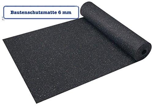 bautenschutzmatte 6 mm 1 25 m x 10 m gummimatte antivibrationsmatte. Black Bedroom Furniture Sets. Home Design Ideas