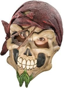 Captain Jack 3/4 Vinyl Mask Adult Halloween Accessory