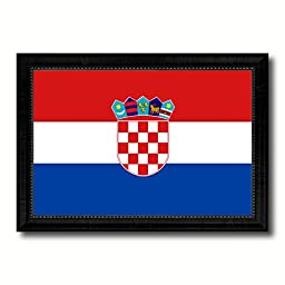 Croatia National Country Flag Print On Canvas Design Primitive Wall Art Home Decor Office Interior Souvenir Gift Ideas, 23\