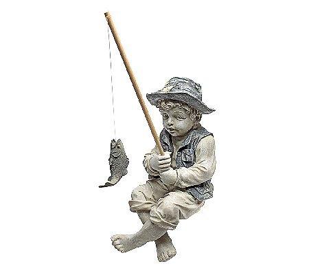 Garden sculpture frederic little fisherman avignon outdoor for Little boy fishing statue