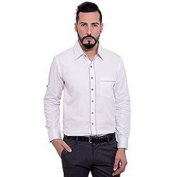 FBBIC Men's Plain Cotton Shirt