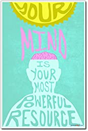 Your Mind Is Your Most Powerful Resource - NEW Classroom Motivational Reading Poster