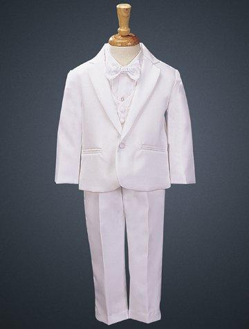 6pc Boy Baby Teen White Satin Shawl Lapel Suits Tuxedo LIME Satin Bow tie Set