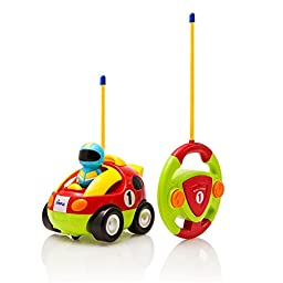 Cartoon Remote Control (R/C) Race Car for Kids and Toddlers with Sound and Lights by Dimple