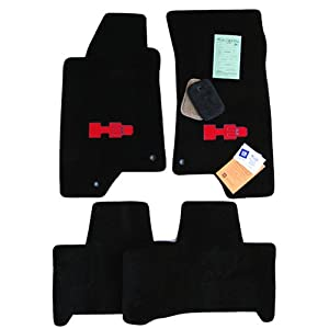 Amazon.com: Hummer H3 Black Floor Mats with Red H3 Logo