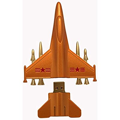 16 GB Pen Drive Golden Color Airplane Shape USB 2.0 Pen Drive MT1021