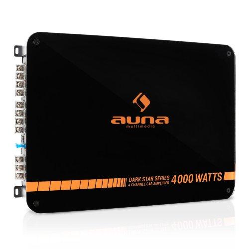 Auna-Dark-Star-4000-Auto-Endstufe-Verstrker-fr-Auto-4-Kanal-oder-Mono-Betrieb-400-Watt-RMS-Tiefpassfilter-schwarz