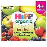 HiPP Organic Just Fruits Apple, Strawberry & Blueberry 4+ Mths 4 x 100G
