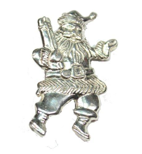 Sterling Silver Santa Pin