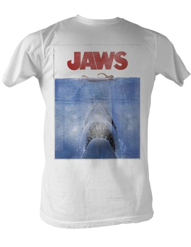 Women's Jaws 70s Movie T-Shirt In White - S to XL