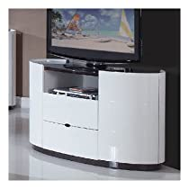 Hot Sale Global Furniture USA Gia Collection MDF/Wood Veneer Bedroom Set with Entertainment Unit, White