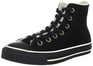 Converse All Star Hi Suede Shearling Black 111517, Unisex - Erwachsene Fashion Sneakers, Schwarz (Black), EU 37 (US 4.5)