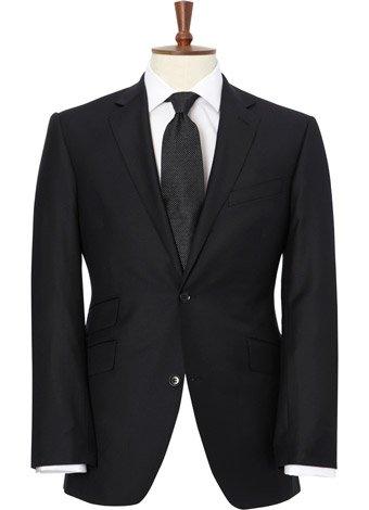 Austin Reed Contemporary Fit Black Gaberdine Jacket REGULAR MENS 40