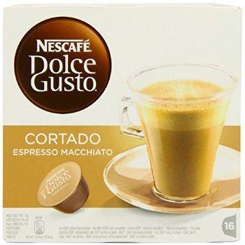 2 XNescafé Dolce Gusto Cortado Espresso Macchiato (Pack of 3, Total 48 Capsules)