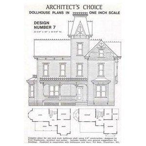 Amazon.com: Dollhouse Blueprint Plan 7: Toys & Games