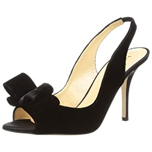 Kate Spade New York Women's Charm Slingback Sandal,Black,7.5 M US