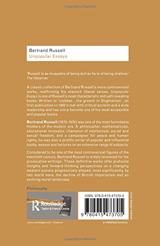 bertrand russell work essay A short biography describes 's life, times, and work also explains the historical and literary context that influenced bertrand russell (1872–1970.