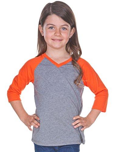 037cdce0 Kavio! Little Girls 3-6X Sheer Jersey Contrast V Neck Raglan 3/4