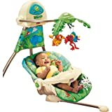 Fisher-Price Rainforest Open Top Cradle Baby Swing