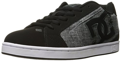 DC Men's Net SE Skate Shoe, Black Marl, 12 M US