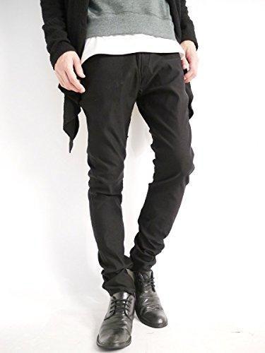 (モノマート) MONO-MART スーパーストレッチ スキニーパンツ チノパンツ 夏 スキニー パンツ ストレッチ MODE デザイナーズ メンズ ブラック XLサイズ