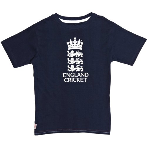 ECB Official England Cricket Kids Player Logo T-Shirt (Jonathan Trott) rrp£15
