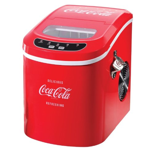 Brand New Coca Cola Portable Ice Maker, Free-Standing Countertop Red Ice Cube Machine front-601827
