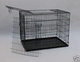 BestPet Three Doors Suitcase Folding Wire Cage, 42-Inch