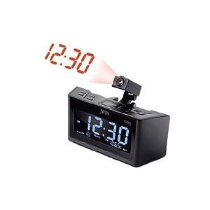 jwin jl365 dual alarm clock with projection. Black Bedroom Furniture Sets. Home Design Ideas