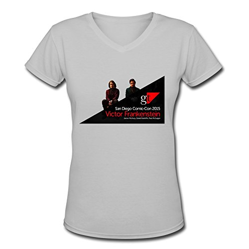 DASY Women's V Neck Gt San Diego Comic Con 2015 Victor Frankenstein T Shirt XX-Large