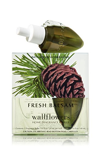 Bath & Body Works Wallflowers Home Fragrance Refill Bulbs Fresh Balsam 2 Pack (Pine Tree Plug compare prices)